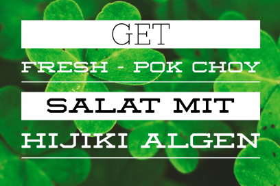 Get Fresh – Pok Choy Salat mit Hijiki Algen