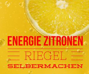 Zitronen Riegel