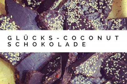 Glücks-Coconut-Schokolade – einmal zuckerfrei glücklich machen –