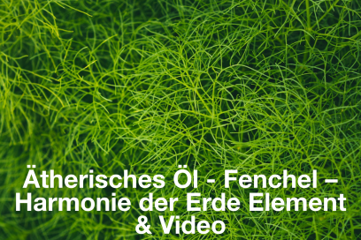 Ätherisches Öl – Fenchel – Harmonie des Erde Element mit Video